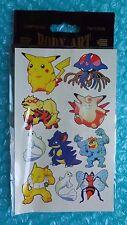 "1999 Pokemon 1st Edition ""Body Art"" Temporary Tattoos!"