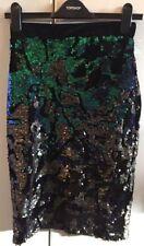 Sequin Knee Length Party Regular Size Skirts for Women