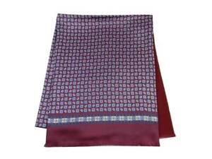 Man echarpe en laine soie bordeaux rouge silke wool scarf double homme made ital