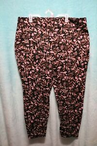 "NEW⚜Womans PLUS Printed Mid rise skinny ""Jegging's"" by Terra & Sky 2X~pink/black"