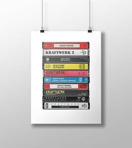 Kraftwerk Poster: Cassette Print, Kraftwerk Albums, Fan, Gift, Art