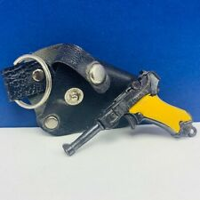 Luger diecast toy miniature gun keychain pistol holster key chain vintage metal