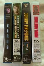 VHS Lot of 4 Large Case Titles Virus, Alien Hunter, Johnny Mnemonic & Hollow Man