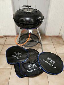 Cadac Carri Chef 2 BBQ Skottel Combo Gasgrill inkl. Schlauch+Regler