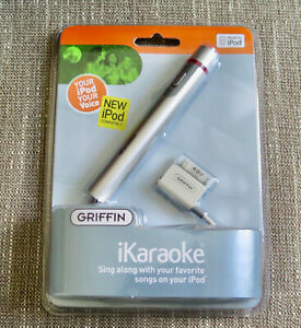 Griffin iKaraoke Microphone Apple iPod Compatible 12' Cable NEW SEALED old stock