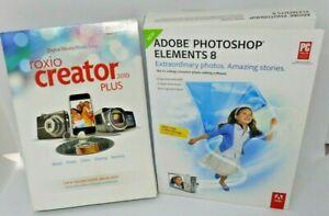 Roxio Creator 2010 Plus and Adobe Photoshop Elements 8 Bundle