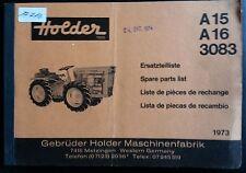 Holder Schlepper A 15 , A 16 , 3083 Ersatzteilliste