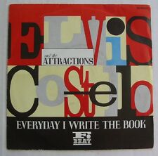 """ELVIS COSTELLO AND THE ATTRACTIONS (SP 45T 7"""")  EVERYDAY I WRITE THE BOOK"""