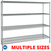 Winco VEXS-1848 4-Tier Wire Shelving Set 18 x 48 x 72 Epoxy Coated