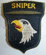 SNIPER - PATCH - 101st AIRBORNE Division - SCREAMING EAGLES - Vietnam War - 4296