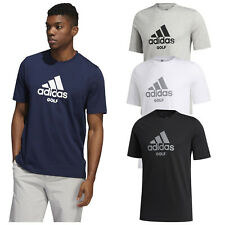 2020 adidas Mens Golf Graphic Logo T-Shirt Summer Crew Neck Gym Top Casual