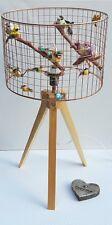 Handmade Copper Birdcage abat-jour Cage abat-jour Lustre Fun Oiseau Lampe