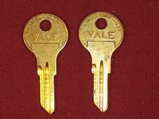 2 Yale Original Key Blank for Vintage Willys Cord Auto, Cessna Piper Aircraft