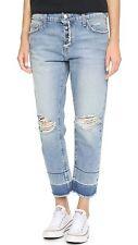 current Elliott the fling boyfriend jeans w/exposed fly destroy blue sz.26 NWT