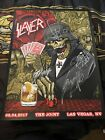 signed and number slayer poster from Las Vegas 2017