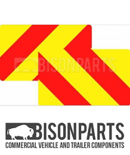 *TRUCK, CV & TRAILER (PAIR) REAR MARKER BOARD / CHEVRON ALUMINIUM BP76-132