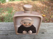 "Vintage Goebel Friar Liquor Flask & Cork Stopper 4 5/8"" tall Germany"