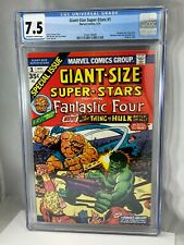 Giant Size Super Stars #1 CGC 7.5 VF- OWW Marvel Comics 5/74 1974 Fantastic Four