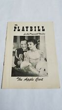 VINTAGE BROADWAY PLAYBILL #156 - 1957 THE APPLE CART MAURICE EVANS PLYMOUTH