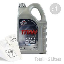 Car Engine Oil Service Kit / Pack 5 LITRES Fuchs GT1 PROFLEX XTL 5w-30 5L