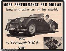 1954 Triumph TR2  Refrigerator / Tool Box  Magnet Gift Item