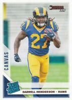 2019 DONRUSS CANVAS PARALLELS RC DARRELL HENDERSON RAMS RATED ROOKIE - B2948