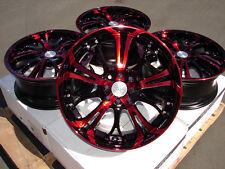 "17"" Red Effect Wheels Rims 4 Lug Integra Cobalt Escort Accord Civic Insight Fit"