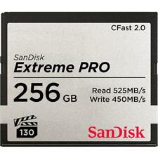 Sandisk Extreme Pro 256GB CFast 2.0 Memory Card - 256 GB, 525 MB/s, 450 MB/s, Bl