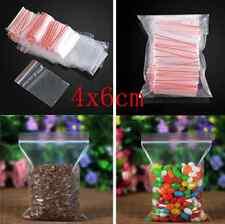 100pcs/Pack Clear Ziplock Zipped Lock Reclosable Plastic Poly Small Bags 4x6cm