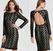 Red Carpet Gala Alice Olivia Lace Dress Eyelet Open Back Pencil 2 S Gucci