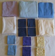 Lot of 12 Pieces of Fabric COTTON FLANNEL PASTELS for Quilting or Craft 11 Yrds+