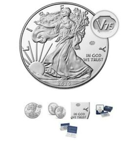 2020 END of WORLD WAR II 75th ANNIVERSARY AMERICAN EAGLE SILVER PROOF COIN V75