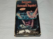 Scream and Scream Again! VHS - 1985 - Vincent Price