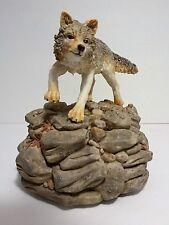 The Majestic Timber Wolf Gray Wolf Figurine Music Box