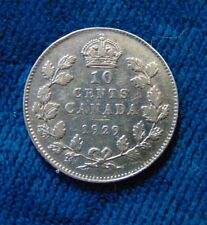 CANADA 1929 silver Ten 10 Cents dime King George V