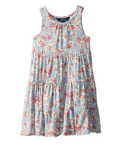 NWT Ralph Lauren Polo Girls Floral Cotton Jersey Dress XL 16