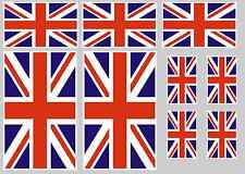Union Jack decal set 9 quality printed and laminated stickers free delivery