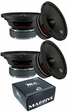 "6.5"" Massive Audio M6 - Mid Full Range Bullet Loud Speaker 1200W 4 Speakers"