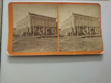 R.L. Kelly Pierre South Dakota Territory Stereoview Photo Dentist Sign