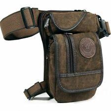 Men Canvas Waist Drop Leg Bag Thigh Hip Belt Bum Fanny Pack Military Tactical