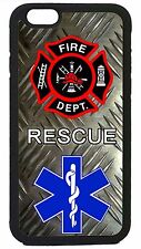 Firefighter Rescue Paramedic Case Cover for iPhone 4 4s 5 5s 5c 6 6 Plus