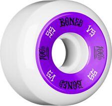 Bones 100s 55mm OG Formula V5 Skateboard Wheels White