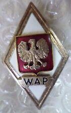 Badge- Poland Polish Military Graduation Badge- Political Officer WAP Badge(ORG*