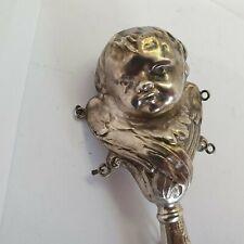 alte Babyrassel Silber 800 um 1900 #29