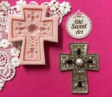 Spanish Cross silicone mold fondant cake decorating cupcake soap food topper FDA