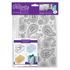 PAISLEY BACKGROUND - A5 Clear Stamp - Docrafts
