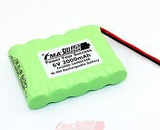 Ni-MH AA 6V 2000mAH for BA225030 / FUB 9NM Home Alarm system Backup Battery US