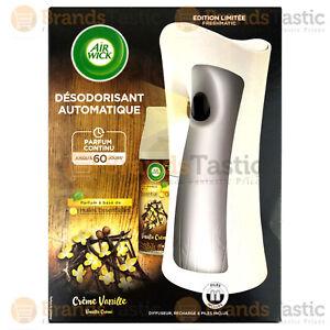 1 X AIR WICK FRESHMATIC MACHINE & VANILLA CREME ROOM AIR FRESHENER REFILL 250ML