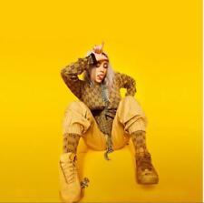 "Billie Eilish Poster Music Artist Art Print Size 12x12"" 18x18"" 24x24"""