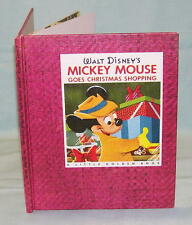 WALT DISNEY'S MICKEY MOUSE GOES CHRISTMAS SHOPPING Annie North Bedford 1st Ed HC